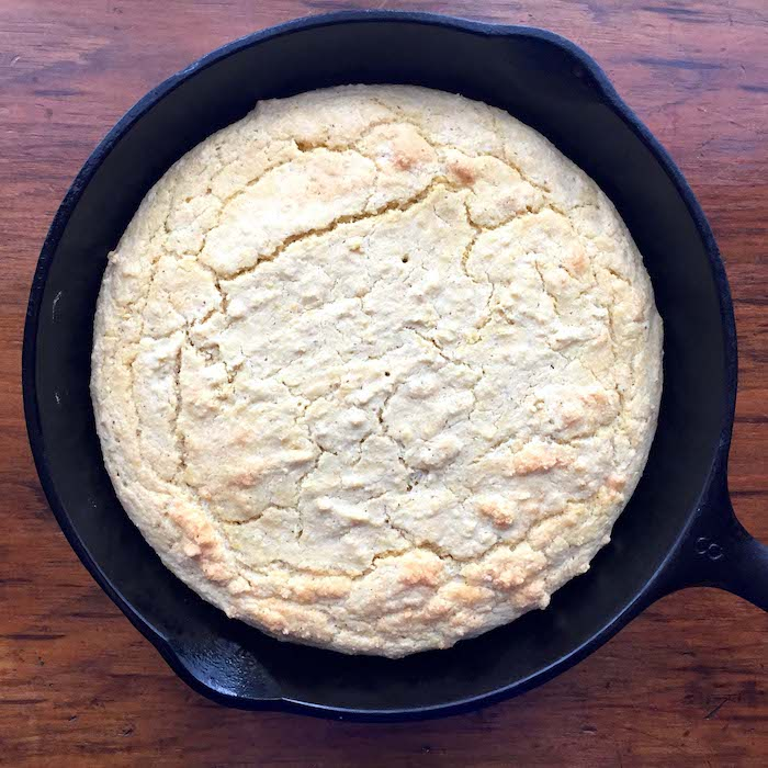 Don't let that light brown top fool you. This Gluten Free Cornbread is perfect!