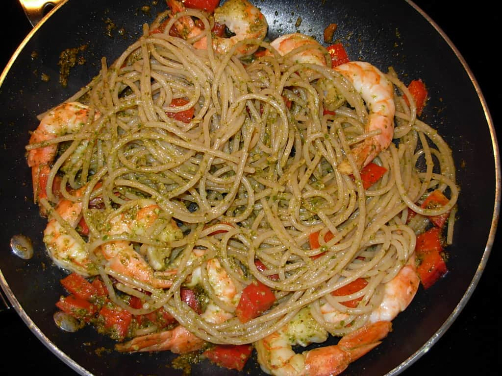 Pesto Pasta Shrimp