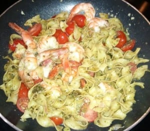 Shrimp with Pesto Pasta