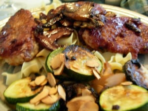 Zucchini, Caramelized Onions & Toasted Almonds