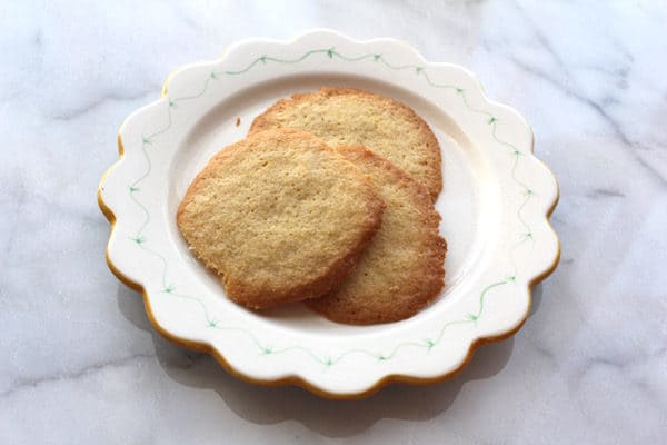 Gluten Free Danish Sugar Cookies, made with 2 cups of flour.