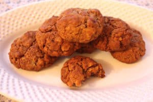 Gluten Free Garmer's Rocks Date Spice Cookies. Nicely browned, still chewy.