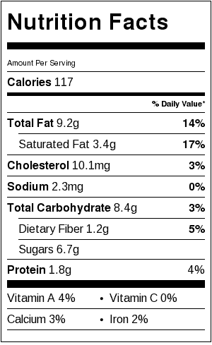 "Easy Gluten Free Toffee Candy Nutrition Label. Each serving is one piece of candy, about 2"" x 3""."