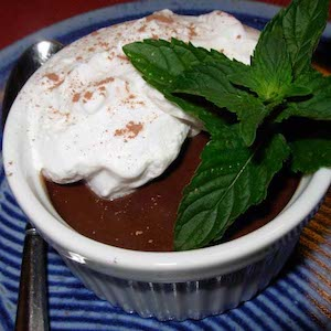 Chocolate Pots de Crème (dairy free). Yum.