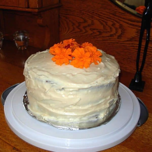 Carrot Cake is so scrumptious with Cream Cheese Frosting.