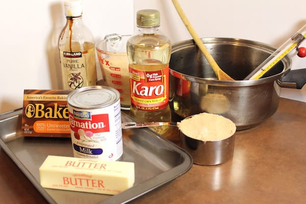 Ingredients for Don's Homemade Caramels.