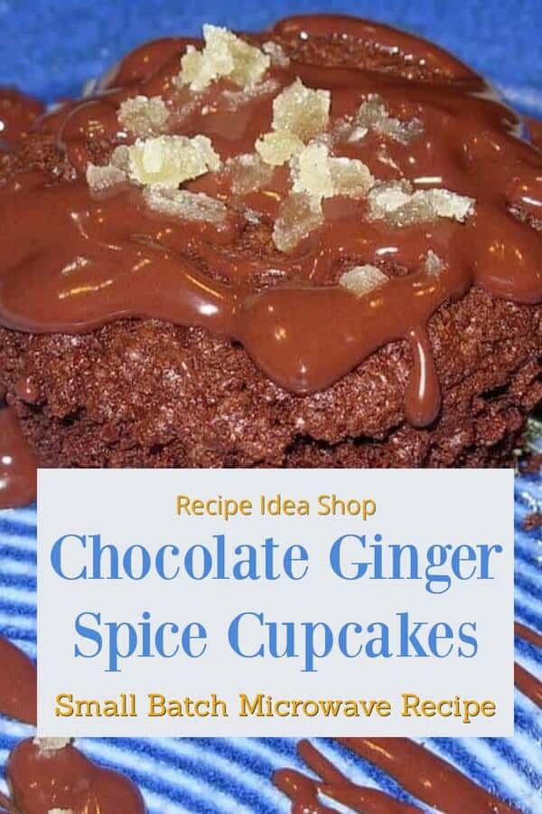 Debby Maugans' Chocolate Ginger Cupcake Recipe. Perfect combo of ingredients.#chocolategingercupcakes #chocolatecupcakes #cupcakerecipes #cake #dessertrecipes #recipes #comfort food #recipeideashop