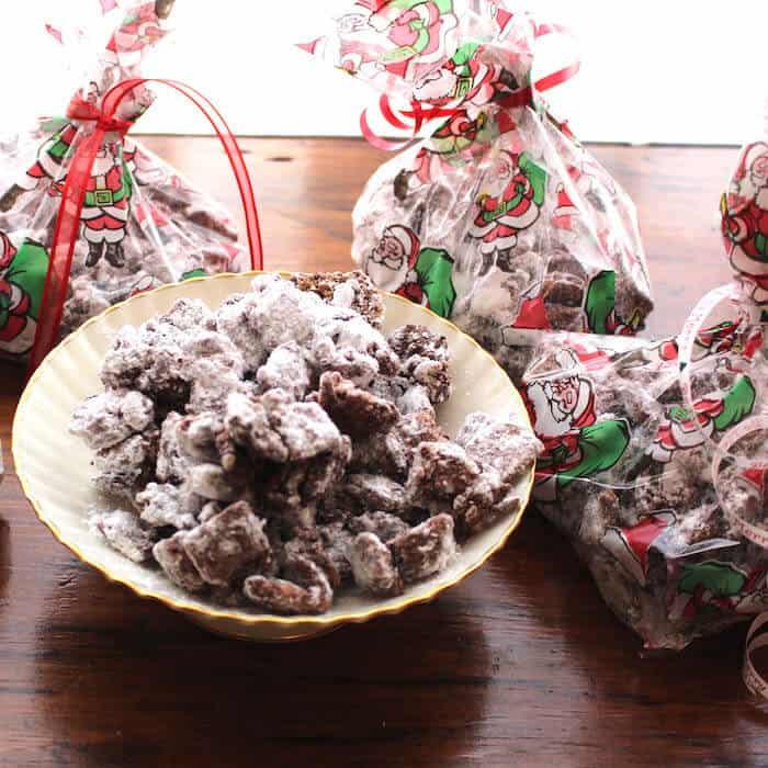 Puppy Chow Chocolate Peanut Butter Cookies (Gluten Free) make a terrific gift.