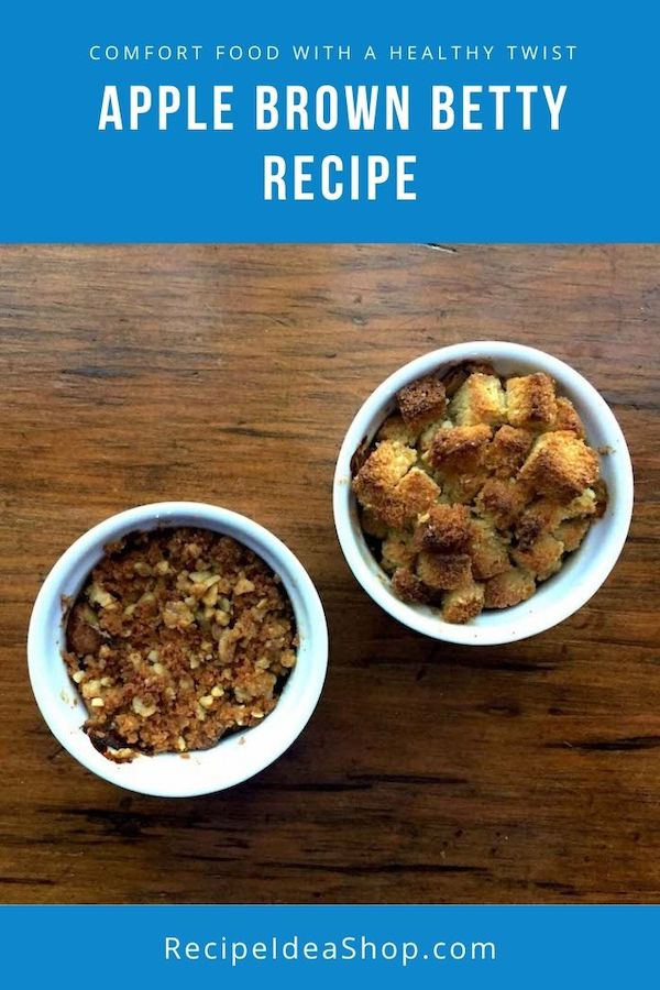 Apple Brown Betty, like apple pie without the crust.  #applebrownbetty #applerecipes #brownbettyrecipe #apples #recipes #comfortfood #glutenfree #recipeideashop