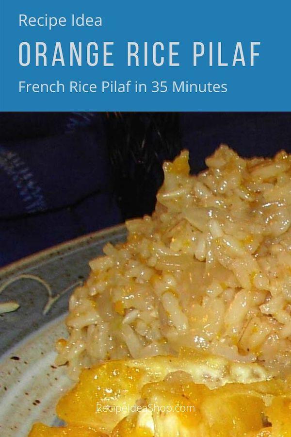 You are gonna love this one: Orange Rice Pilaf. Easy peasy recipe. #orangericepilaf #ricepilaf #rice #sidedishes #glutenfree #dairyfree #comfortfood #food #healthy #recipes #recipeideashop