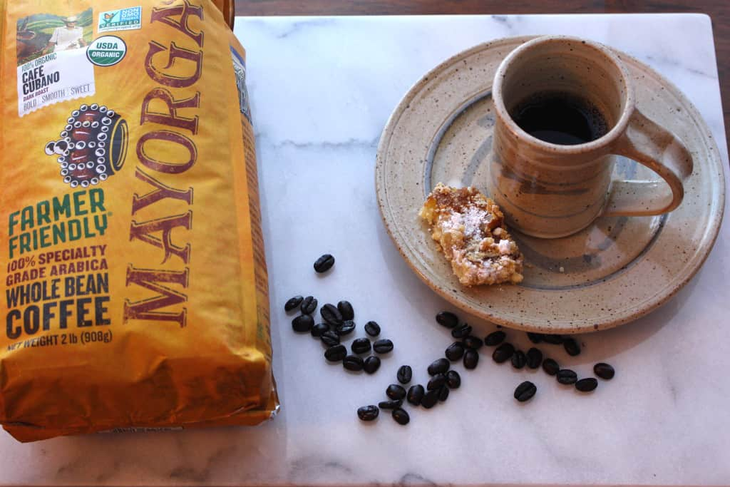 The Perfect Cup of Coffee, paired with a Gluten Free Lemon Square. What a delightful treat.