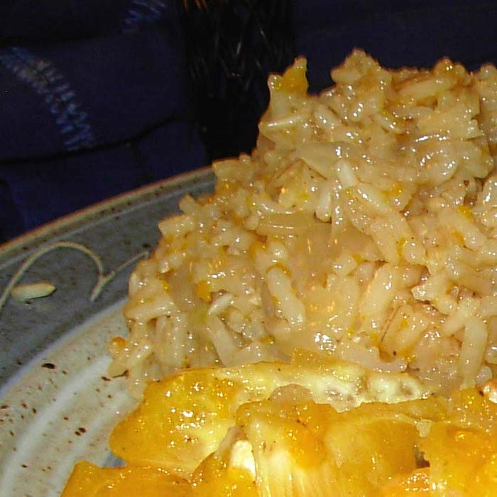 How about a simple 35-minute delicious Orange Rice Pilaf for supper?