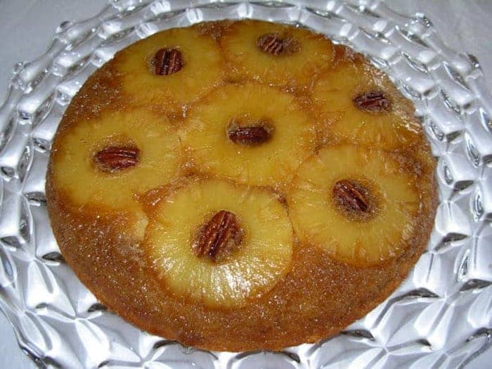 Pineapple Upside Down Cake with Pecans