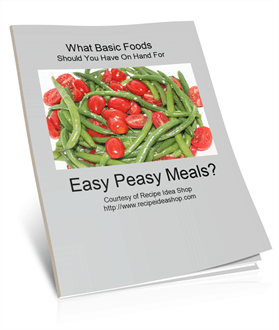 Smell the Coffee: What Basic Foods Should I Have On Hand For Easy Peasy Meals?