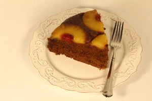 Gluten Free Gingerbread Pineapple Upside Down Cake