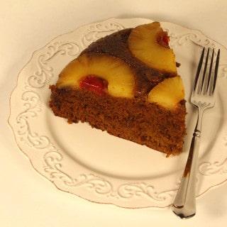Gluten Free Gingerbread Pineapple Upside Down Cake
