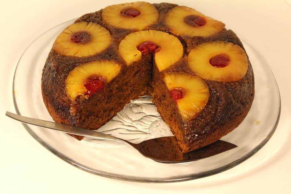 Gluten Free Gingerbread Pineapple Upside Down Cake—gingery goodness.