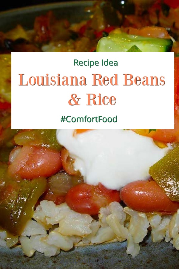 Louisiana Red Beans and Rice will make you feel like you are at Mardi Gras. So delicious. #Redbeansandrice #louisianarecipes #southerncooking #riceandbeans #vegan #glutenfree #recipes #comfortfood #recipeideashop