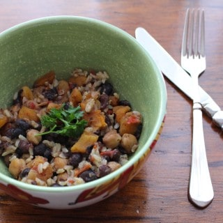 Spicy Black Beans and Apricots