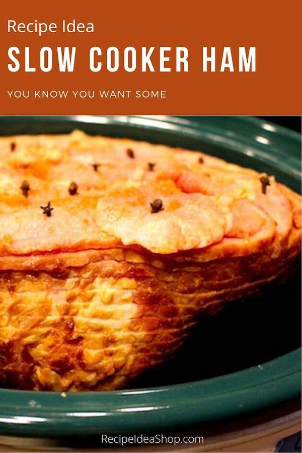 Slow Cooker Spiral Cut Ham. So juicy. Easy peasy. #slowcookerham #hamdinner #easterham #ham #yougotthis #cookathome #recipes #recipeideashop