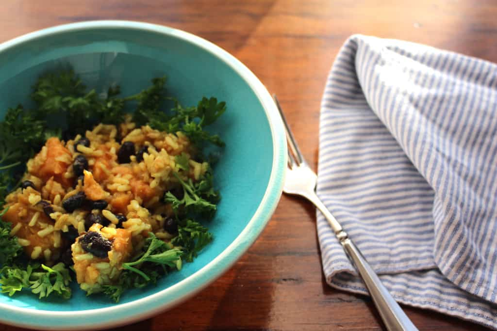 Sweet Potato Rice & Beans. Tasty and easy.