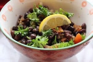 Middle Eastern Black Bean Ful. The most flavorful black beans you'll ever eat. So much garlic, you should never get sick. #middleeasternblackbeanful, #blackbeanful, #recipeideashop