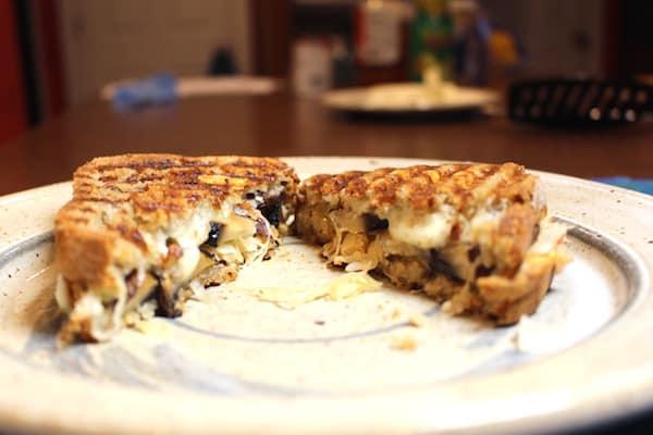 Grilled Portabella Rueben Sandwich made with Udi's Gluten Free Rye Style Bread.