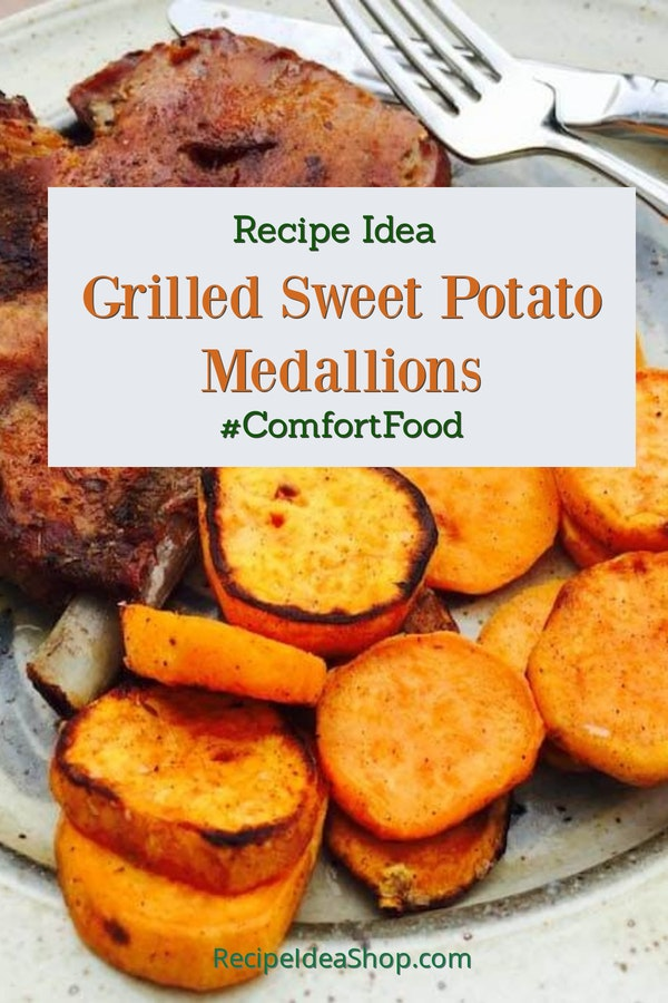 Grilled Sweet Potato Medallions with Spices. So tasty. #grilled-sweet-potato-medallions #grilledsweetpotatoes #sweetpotatoes #glutenfree #vegan #recipes #recipeideashop