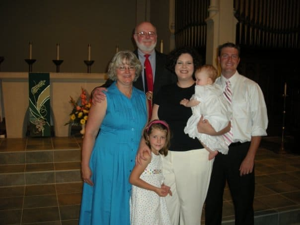 Here I am in the blue dress in late 2008 or early 2009, weighing in at a whopping 285 pounds or so.