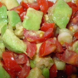 Avocado Tomato Salsa Delicious Alone, With Chips, Or As Topping