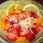 Strawberries and Peaches in Lemon with Coconut