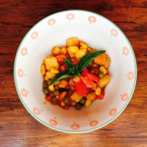 Vegan Brunswick Stew (Gluten Free) is inspired by a recipe from the Moosewood Collective.