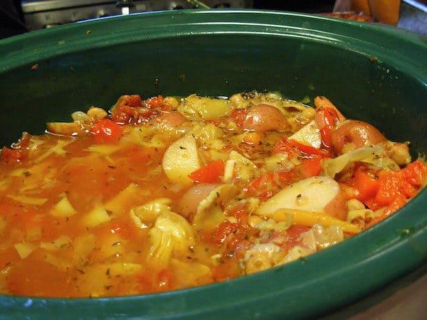 Slow Cooker Mediterranean Chickpea Stew