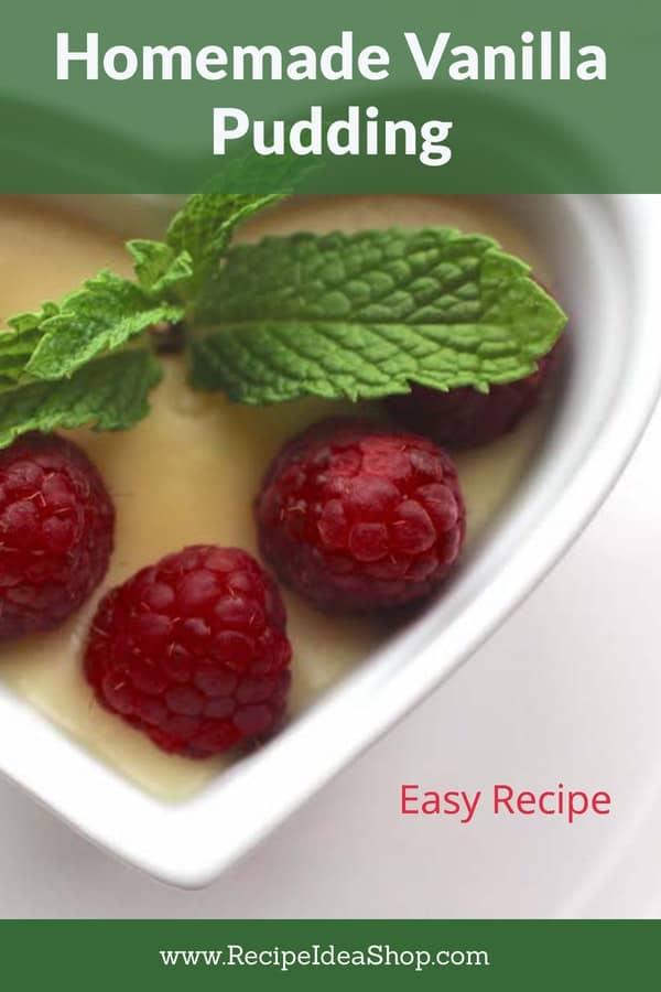 Homemade Vanilla Pudding (Jackie's Pudding). Amazing. And easy. #homemadevanillapudding #homemade-pudding #cookathome #homemade #makeityourself #glutenfree #recipes #comfortfood #recipeideashop