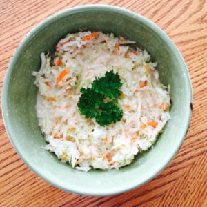 Coleslaw with Green Cabbage