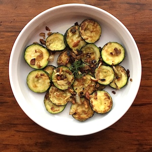 Sautéed Zucchini with Caramelized Onions and Almonds