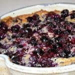 Blueberry Cobbler: An Independence Day Treat! Casserole dish by Elizabeth Krome of Quail Run Pottery.