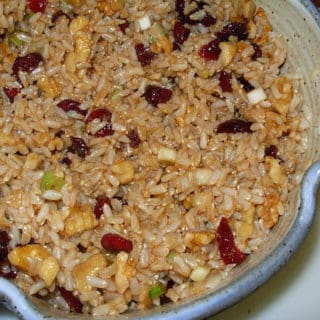 Brown Rice Salad with Cranberries and Nuts