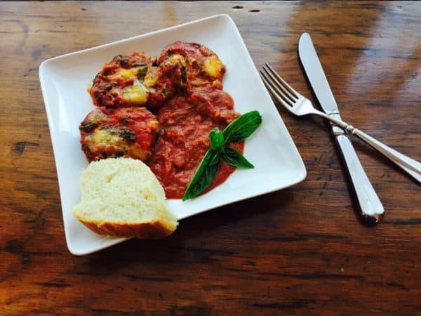 3 Cheese Vegetarian Eggplant Parmesan