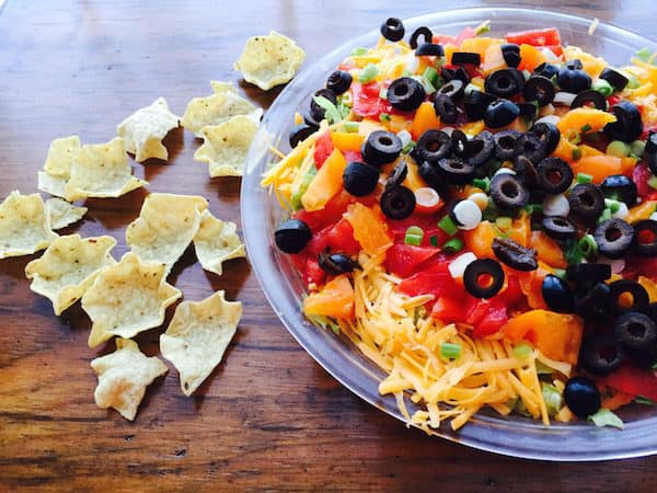 Mexican Layered Dip: So Easy. Delicious!