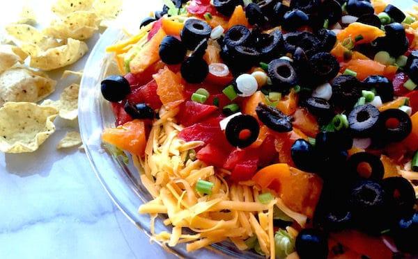 Mexican Layered Dip: So Easy. Delicious!