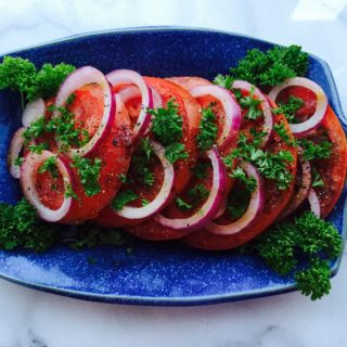 Simple Sliced Tomato Onion Salad