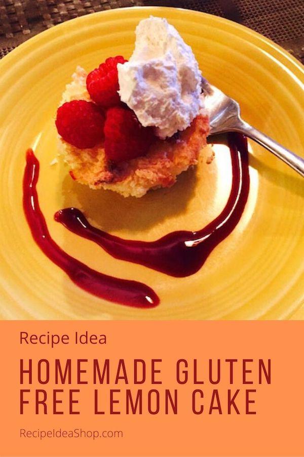 Gluten Free Lemon Cake, so good instead of shortcake. Or eat it alone as a breakfast cake. 30 minute recipe. #glutenfreelemoncake #lemoncake #shortcake #breakfastcake #eatdessertfirst #desserts #comfortfood #recipes #recipe #recipeideashop