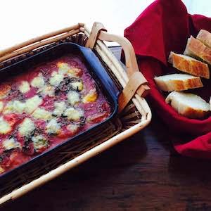 3 Cheese Eggplant Parmesan. Delightful!