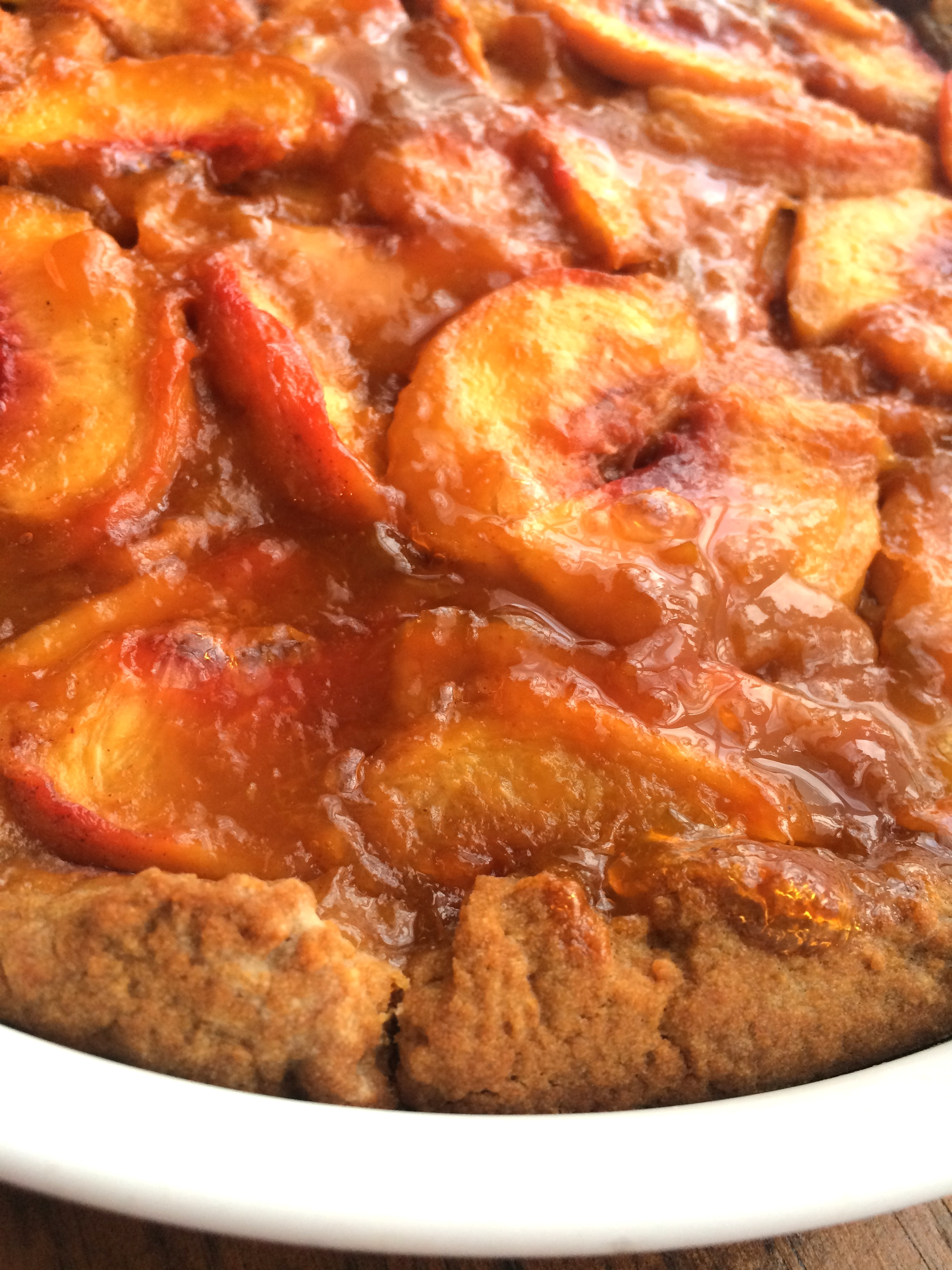 Easy and quick Summertime Peach Tart