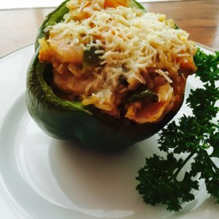 A new take on Stuffed Peppers: Shrimp Stuffed Peppers.