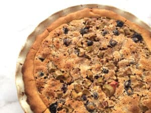 Gluten Free Blueberry Rhubarb Pie