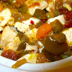 Chicken with Tomatillo Chutney. Yum.