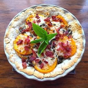 Tomato Basil Tart with Bacon
