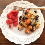 Island Sweet Potato Casserole with black beans and pineapple.